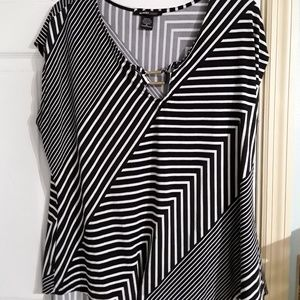 Black and white striped Robert Louis blouse